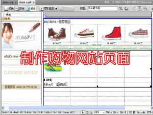 制作购物网站页面